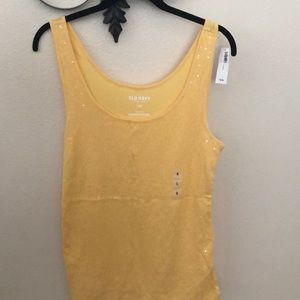🎒 Yellow sequined tank